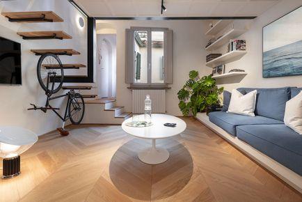 广州拱门和悬臂式楼梯公寓混搭风格装修