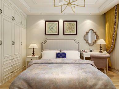 石家庄美式风格三居室装修案例