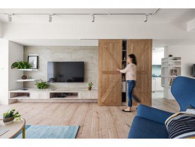 西安现代风格三居室装修案例