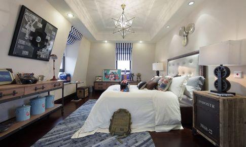 重庆蓝光十里蓝山美式风格四居室装修案例