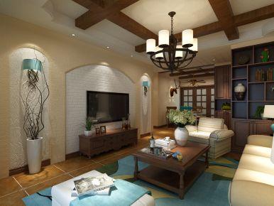 武汉美式风格三居室装修效果图