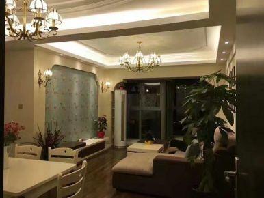 郑州鑫苑国际新城89平米田园风格装修效果图