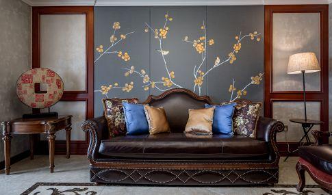 长沙美式风格三居室装修效果图