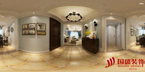 绍兴颐和雅苑美式风格三居室装修效果图