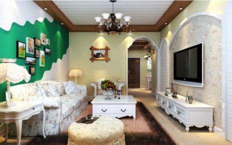 福州田园风格三居室装修效果图