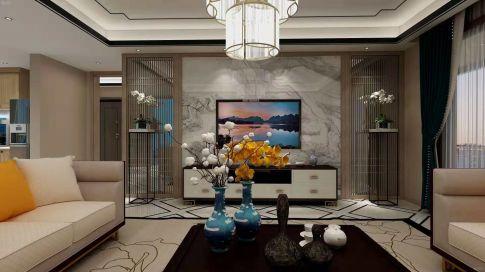 咸阳新中式风格风格三居室装修效果图