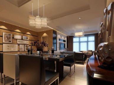 福州美式风格三居室装修效果图