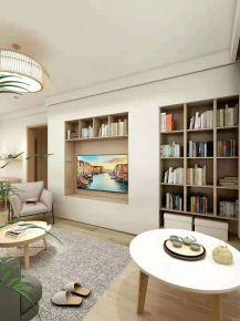 濟南現代三居室裝修效果圖
