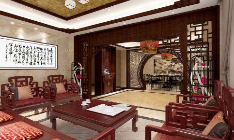 钱清别墅-中式风格别墅装修效果图