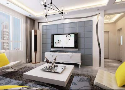 天津简欧风格小两居室装修效果图