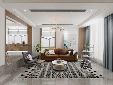 绍兴银树湾-现代北欧风格四居室装修案例