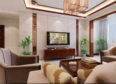 天津新中式风格小两居室装修效果图