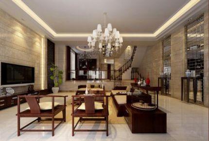 福州中式风格四居室装修效果图