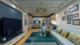 咸阳地中海风格三居室装修效果图