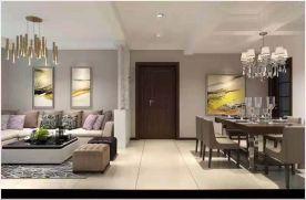 烟台融科迩海法式风格三居室装修效果图