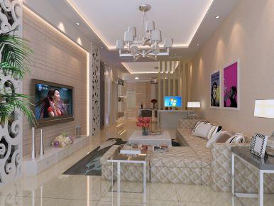 昆明现代风格小两居室装修效果图