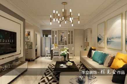 贵阳现代风格三居室装修效果图