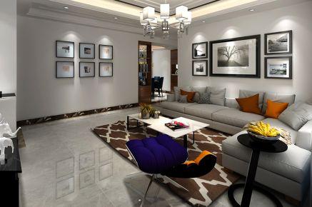 贵阳现代简约风格三居室装修效果图