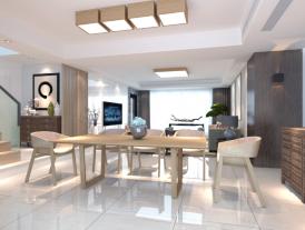 成都日式风格四居室装修效果图