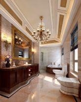 成都法式风格四居室装修效果图