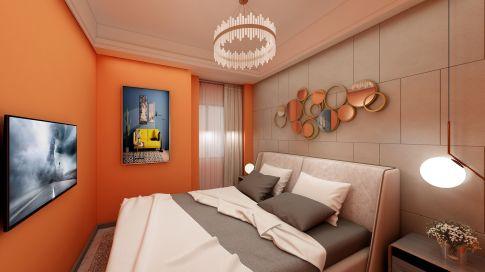苏州现代风格小户型公寓装修效果图
