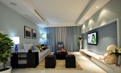 郑州89平米简约风格三居室装修效果图