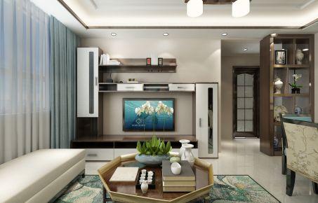 济南现代风格三居室装修效果图