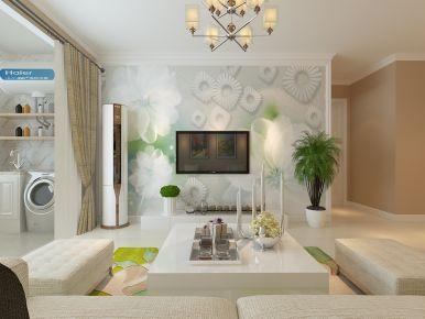 济南龙湖名景台现代风格三居室装修效果图