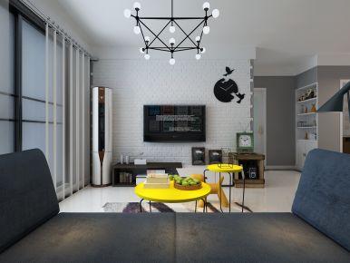 济南世茂天城简约风格两居室装修效果图