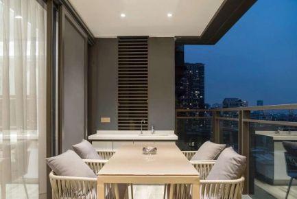 海口246平简约时尚风格三居室装修案例