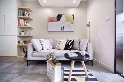 海口83平全屋木系风格两居室装修效果图