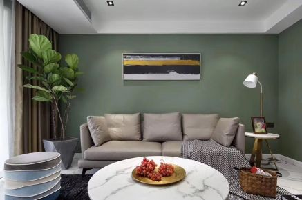 海口现代风格两居室装修效果图