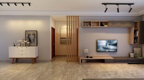 中山市远洋珑郡现代简约三居室装修案例 简约三居室装修效果图