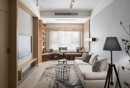 济南恒大天玺80平现代简约风格装修案例 现代简约风格二居室装修设计