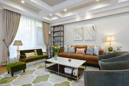 济南恒大龙奥御苑200平混搭风格装修案例 混搭四居室装修效果图