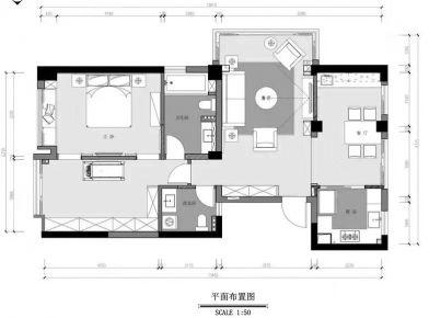 海口现代风格三居室装修效果图