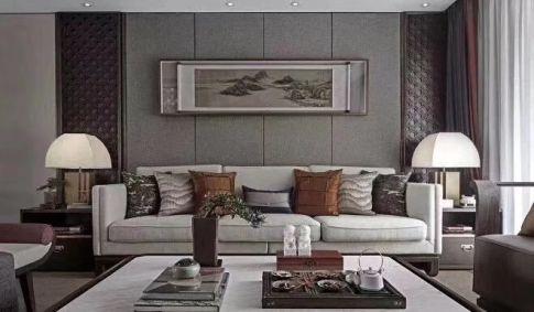 海口新中式风格三居室装修效果图