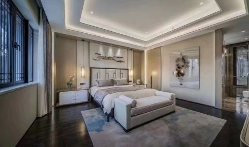 义乌现代简约风格四居室装修效果图