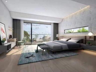 义乌现代风格三居室装修效果图
