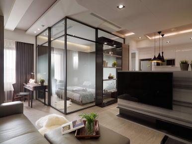 泉州中航城天骏现代风格三居室装修效果图