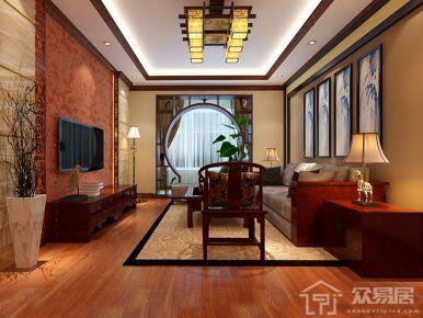 石家庄恒大御景半岛美式三居室装修,满足你的复古情结