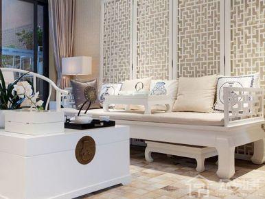 石家庄半岛名邸美式三居室装修效果图,用色彩点亮生活!