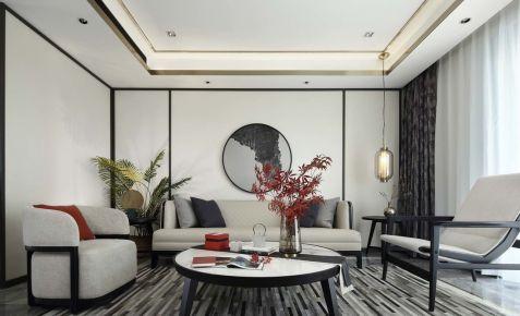 厦门新中式风格三居室装修效果图