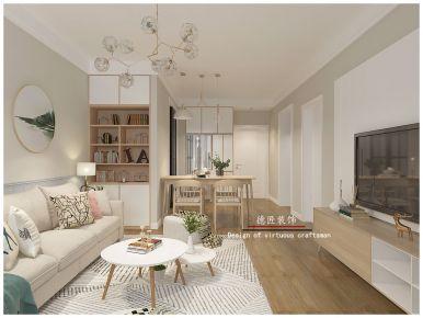 济南简约风格小两居室装修效果图