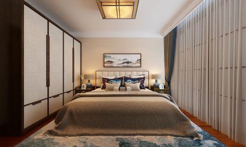 济南新中式风格四居室装修效果图