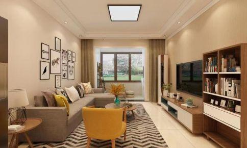 济南现代简约风格三居室装修效果图