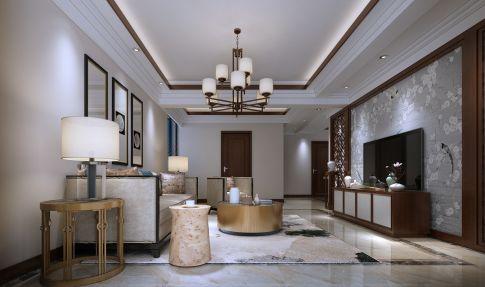 六安新中式风格三居室装修案例
