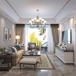 六安美式风格四居室装修效果图