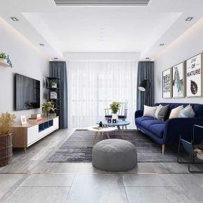 六安北欧风格三居室装修效果图