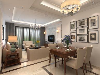 贵阳欧式风格三居室装修效果图